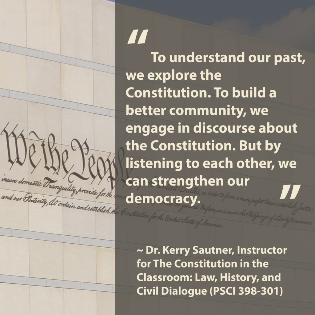 We The People Sign from outside of Constitution Center