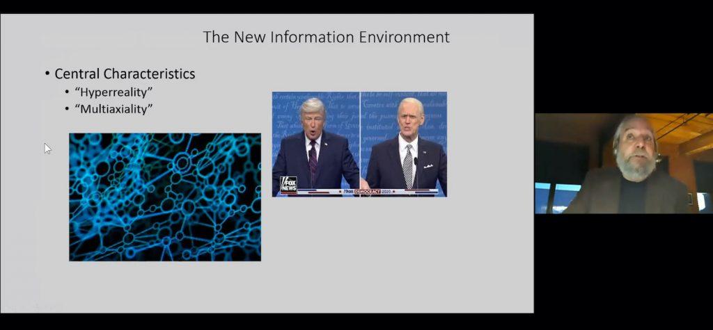 Still from zoom lecture by Michael Delli Carpini